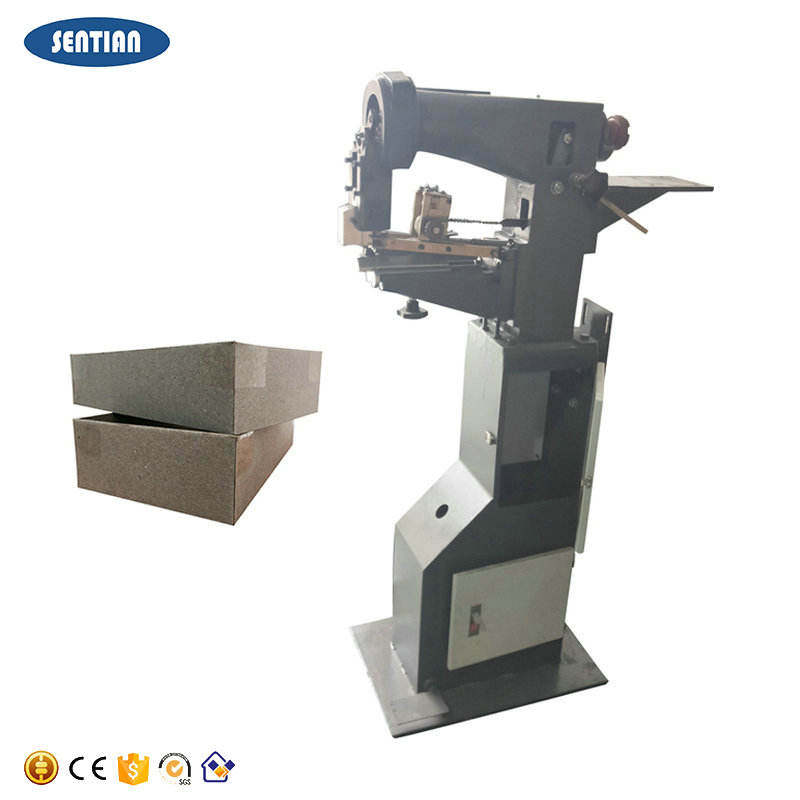 Brand new products hot-melt tape rigid box corner stikcing machine