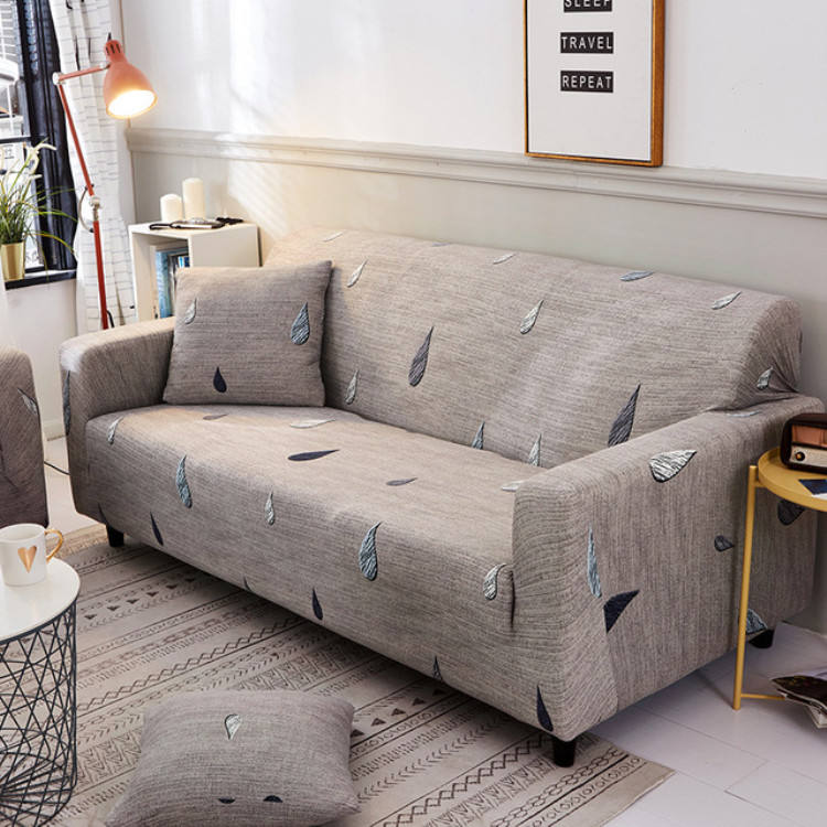 Durable Super Soft High Stretch Jacquard Sofa Slipcover Couch Covers Lycra Furniture Protector Machine Washable Spandex Cover