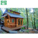 garden green log cabin shed, prefabricated Russian timber wooden cottage