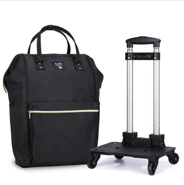 Female [ Travel Foldable Bag ] Factory Price Hot Sale 20 Inch Travel Foldable Shopping Trolley Bag Luggage With 4 360 Degree Spinner Wheels
