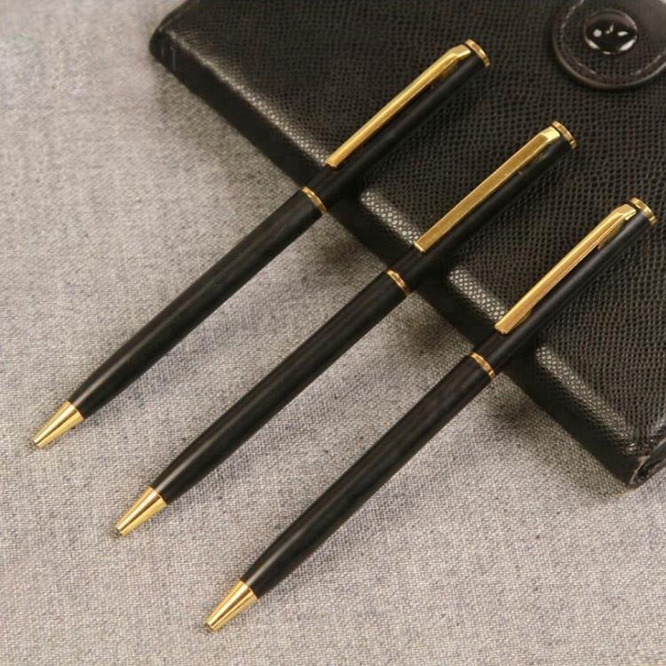 ثابتة فندق استخدام قلم حبر جاف معدني القلم الترويجية ضئيلة كرة دوارة القلم