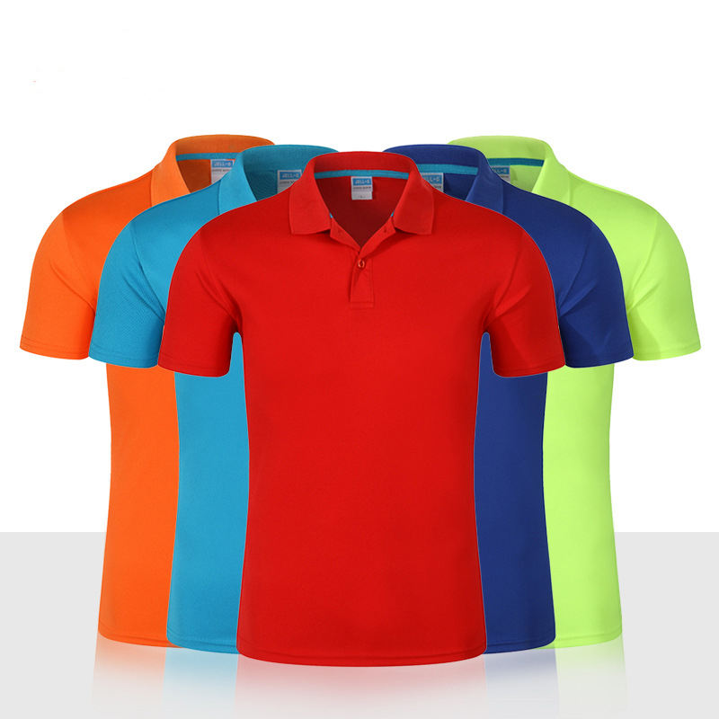 Custom 100% Polyester T-shirts Korte Mouw Droge Fit <span class=keywords><strong>Polo</strong></span> T-shirt