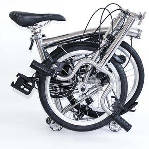 Titanium brompton folding bike