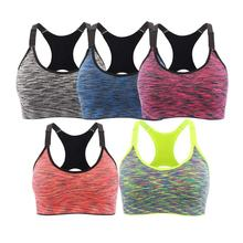 Yoga Wear Yoga Top Women Fitness Clothes Seamless Stretchy Removable Pads Sports Bra