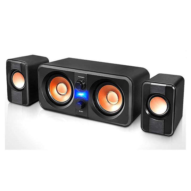 Di gioco del computer ad alta <span class=keywords><strong>potenza</strong></span> karaoke professionale sistema audio audio di altoparlanti 2.1 subwoofer