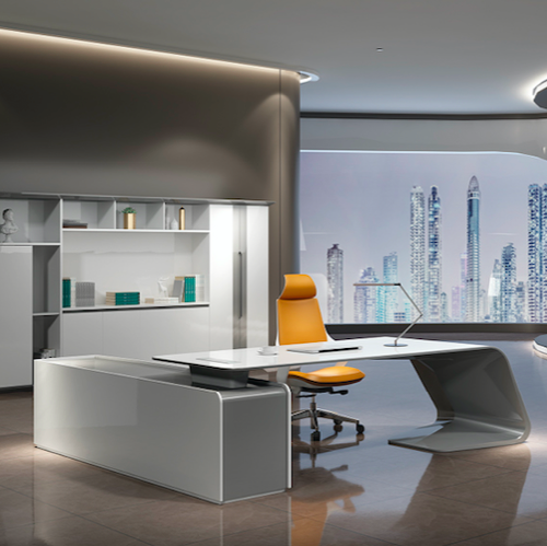 Luxury ceo manager modern office desk for office furniture for one people