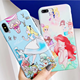 Cartoon Cute Princess Layered Hybrid Shock Absorption Bumper Cover for iPhone XR Case - Face Snow White for iPhone 7 8 X