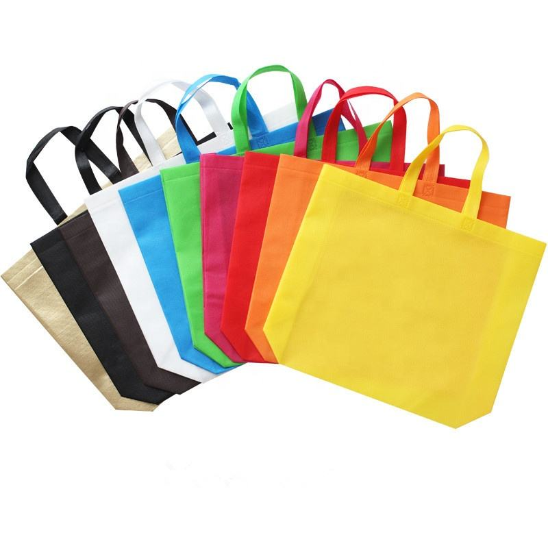 Eco-friendly riutilizzabile 80 gsm borse in tessuto non tessuto in polipropilene pp bag Logo stampato shopping laminato Bag