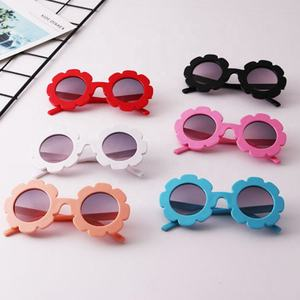 Caoshi Lovely Cute Sunglasses 2019 Multi Candy Color UV400 Sun Glasses Flower Sunglasses Kids