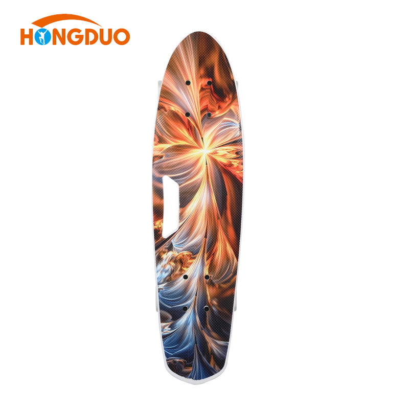New Design Colorful Customized Plastic Fish Skateboard