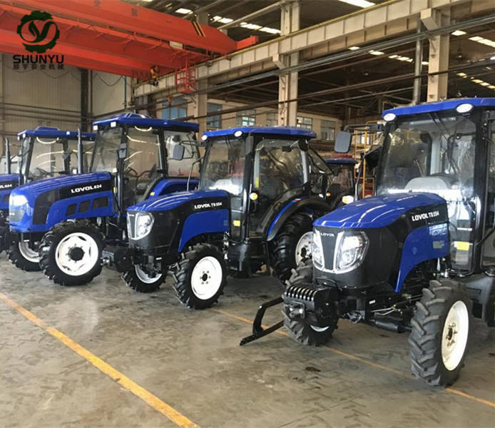 Factory supply 4x4 drive 45hp EPA approval farm mini wheeled tractor Foton TB454 for agriculture