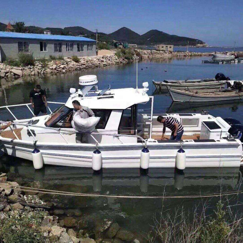 Factory prices 9m 30ft Multi-propose Welded Aluminum Easy Craft fishing boat with cabin for sale