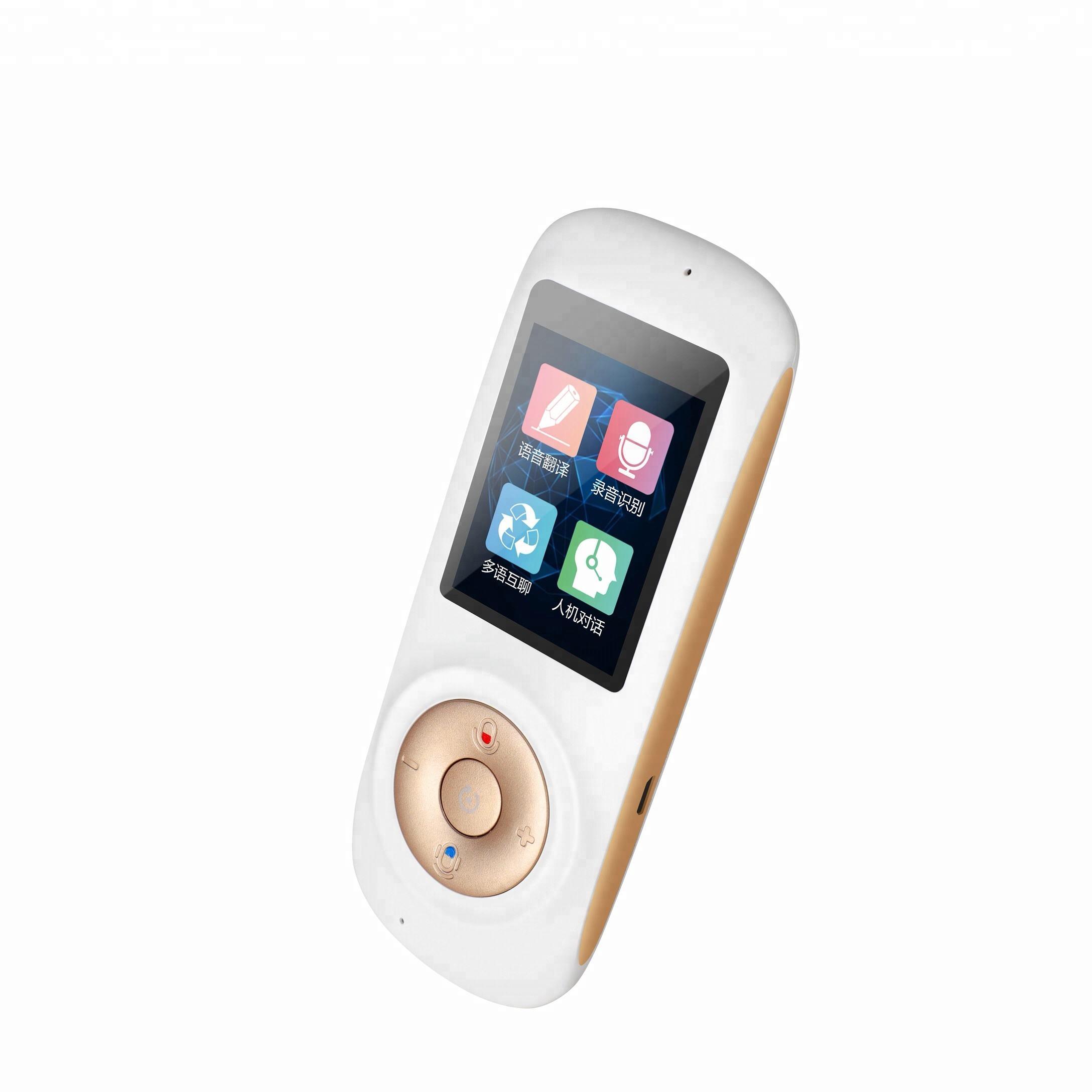 Portable Smart Voice Traducteur Bidirectionnelle En Temps Réel Multi-Langue de Traduction Pour L'apprentissage Voyager