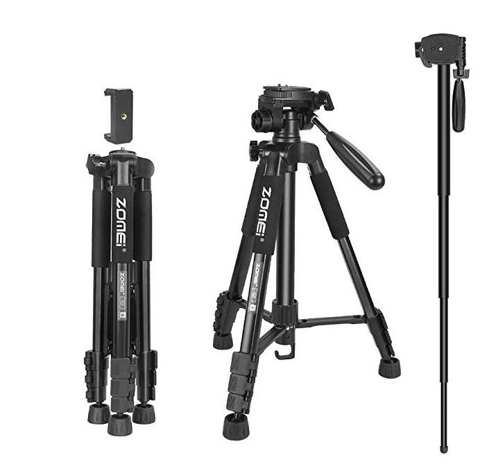 Zomei Q222 Lightweight Tripod With Monopod