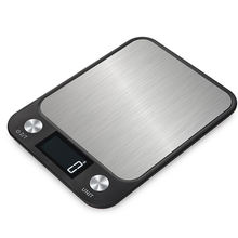 Fangjuu Portable USB LCD Electronic Kitchen Scales balance Cooking Measure Tools Digital Stainless Steel Food scale digital