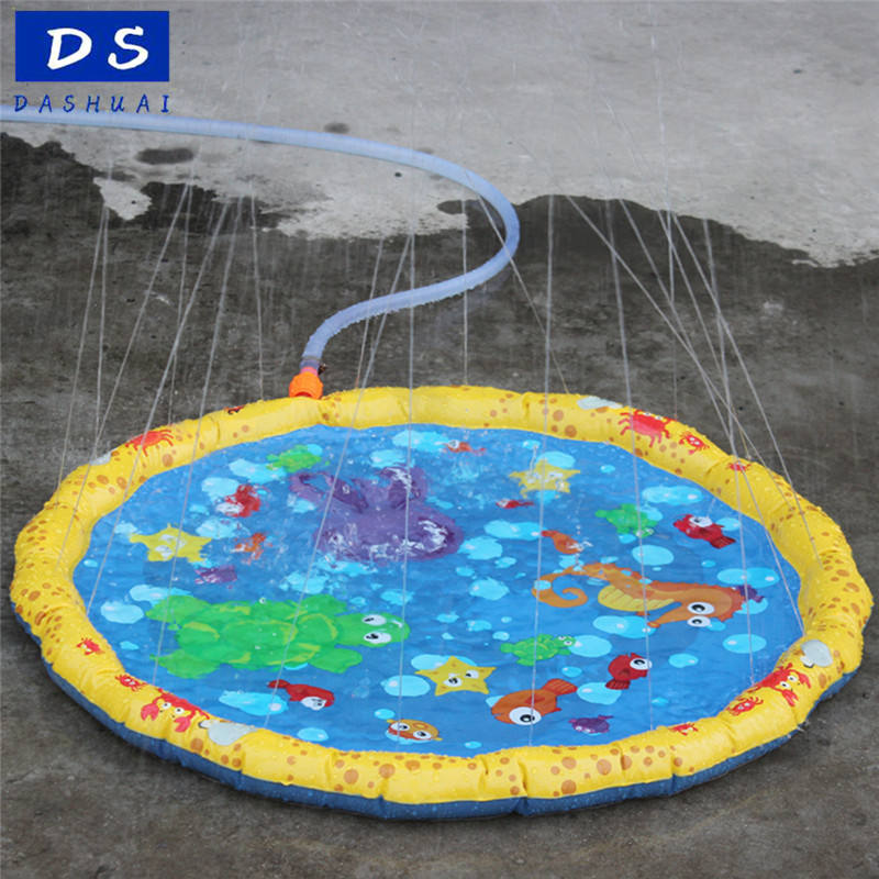 DS wholesale 39/59/67in-Diameter factory audit Outdoor Sprinklers Baby Water Splash Play Mat