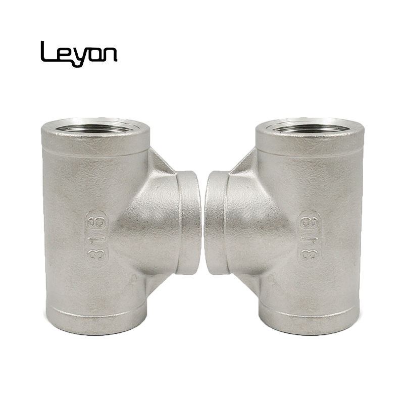 3000LB socket welded tee 1/2 inch NPT threaded 130 stainless steel 304 316 316L tee for plumbing pipe system