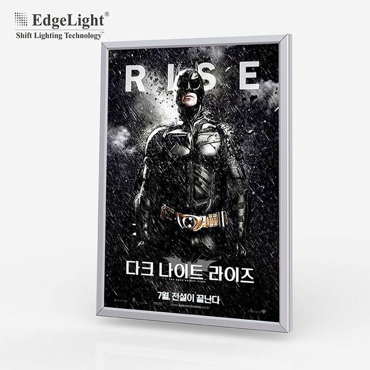 Aluminum Material Frame Cinema LED advertising light box with poster