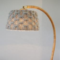 Eco Friendly  Handmade Shabby Chic  Natural Macrame Lamp Shade Chandelier