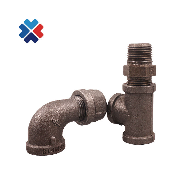 black male and female elbow hex head nipple Malleable Cast Iron Pipe Fittings Used For Plumbing Materials