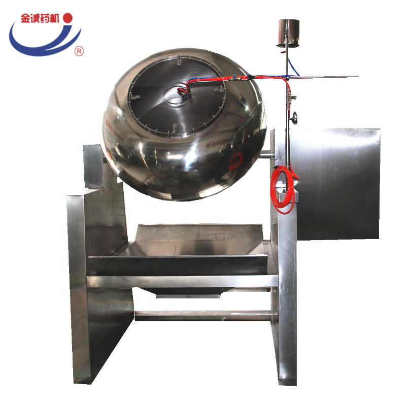 commercial industrial pourable dumping tilting coating pan machine