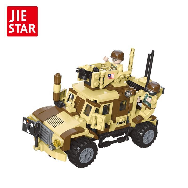 Askeri model araba montaj diy savaş arabası se için blok oyna
