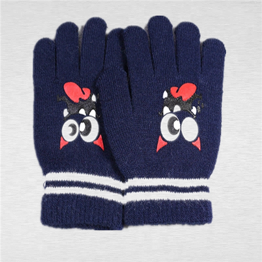 New Children Winter Gloves Custom Cute Cartoon Printing Knitted Kids Mitten Gloves