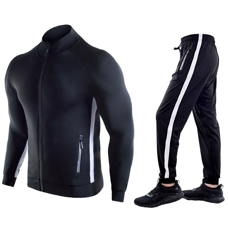 Custom Logo Men Sportswear Running Wear Training Wear Suit Fitness Clothing Mens Sports Suit Tracksuits With Zipper For Men