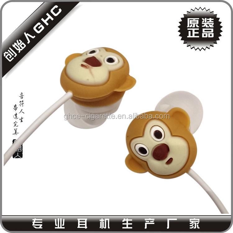 Calidad Superior Stereo forma animal auricular con 3.5mm enchufe de suoba fábrica