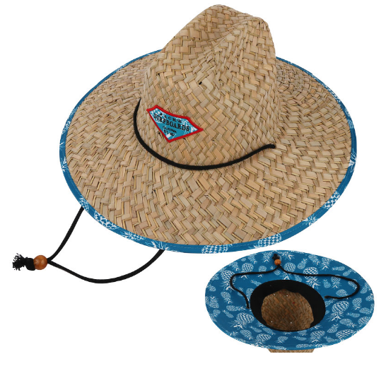 Professional factory promotional printed custom made logo&lining wholesale straw lifeguard hats cheap