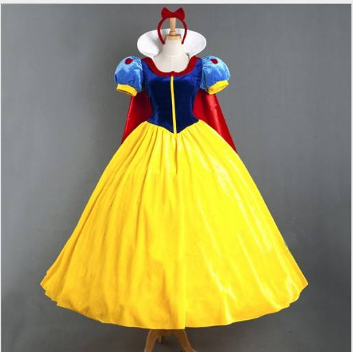 Adulte Princesse Blanche-Neige Fantaisie Robe De Scène Costume TV/Movier Costume
