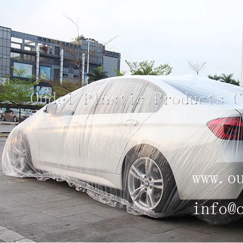PE plastic disposable protective custom printed rain car cover