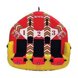 Inflatable Towable 3 Orang Mengambang Towable Tabung Air Raft