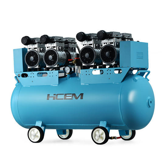 3 KW 4HP ac power oil free air compressor 120 L silent oilless air compressor