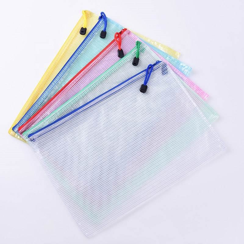 Transparant Clear Mesh Pvc Rits Ziplock <span class=keywords><strong>Document</strong></span> Bestand Zak B5 Plastic Pvc Bestand <span class=keywords><strong>Document</strong></span> Studenten Kantoor Opbergtas
