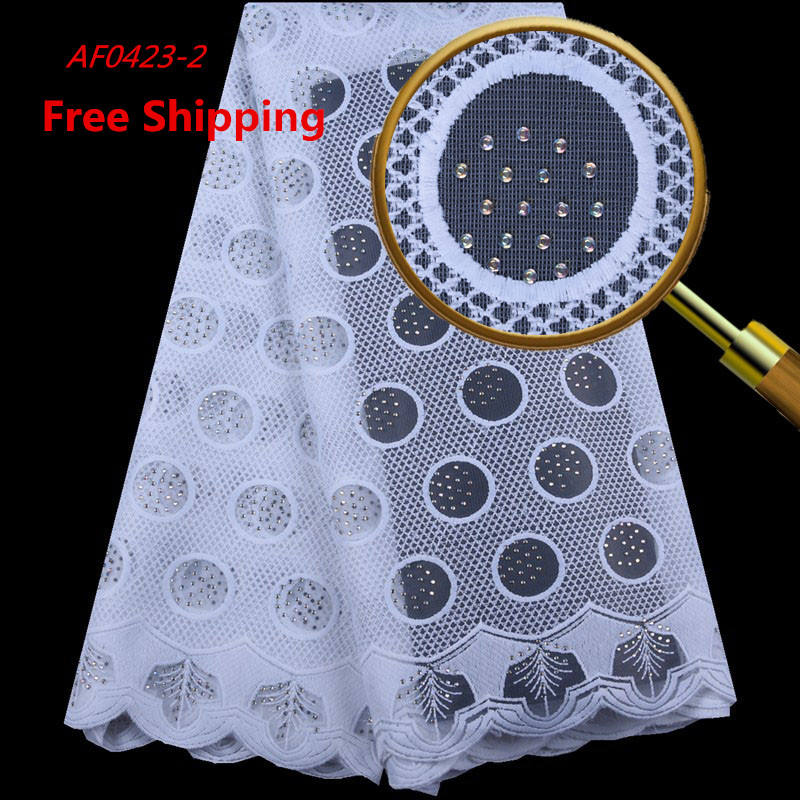 1582 Free Shipping Latest African Lace Fabrics 2019 Pure White Silk Milk Lace Fabric