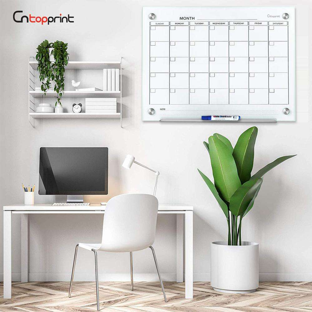 Clearly And Dry Erase Acrylic Calendar For Family Office Use