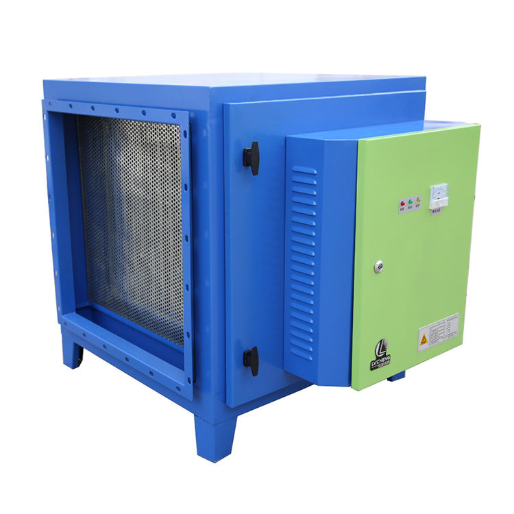 CE ISO high voltage power electrostatic precipitator odour control for restaurant smoke extractor