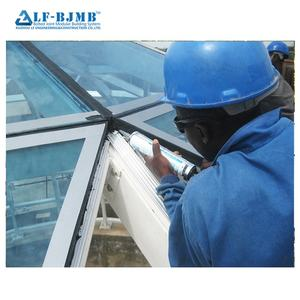 Xuzhou LF Prefab Light Steel Structure Frame Skylight Glass Roof Sliding For Building Construction