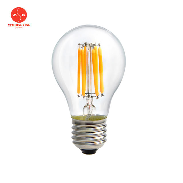 Hot 12 V 24 V Low Voltage Dimmable A19 Filamen Bohlam LED dengan E26 E27 B22 Dasar