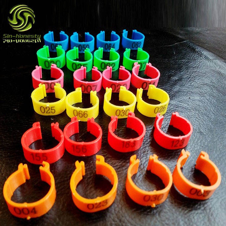 1.5cm plastic open clip small bird ring for finch leg band