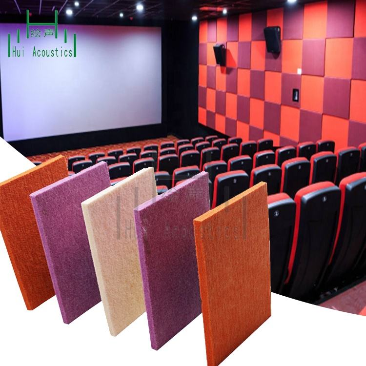 Cinema Sound Absorb Materials Wall System 100 Acoustic Polyester Board