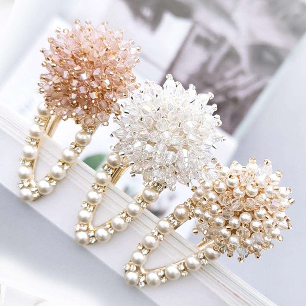 Crystal pearl Hair clip BB Barrette Hair Accessories for women baby girl kids drip clip girl Ins wholesale Chinese Cheap