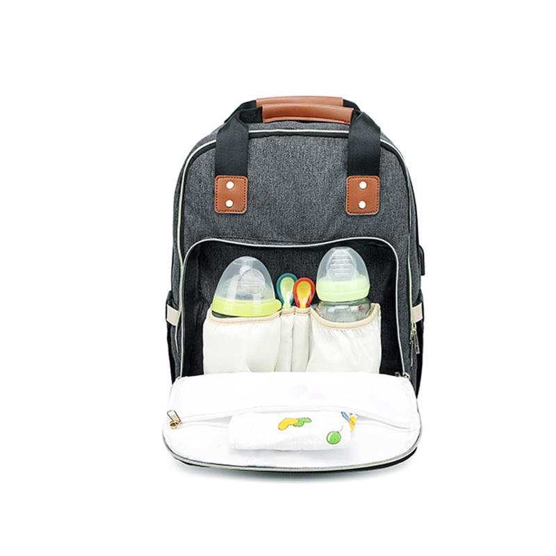 New unisex large diaper bag anti theft maternity baby diaper backpack with usb