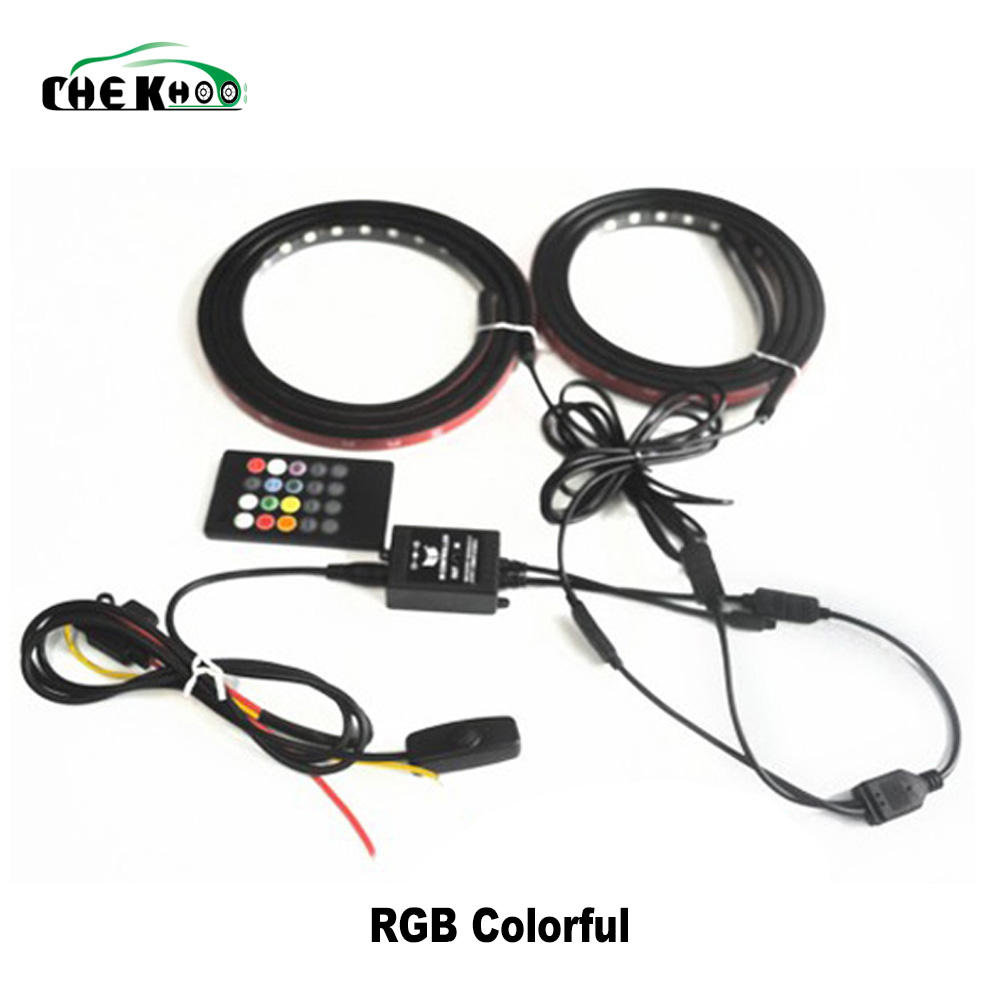 1set/2pcs 60 inch White LED RV Awning Roof Lights tailgate led strip 90-5050-SMD RGB colorful Truck Bed Light for pickup