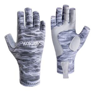Hot Selling Customized UV Protection Sun Gloves Fly Fishing Gloves