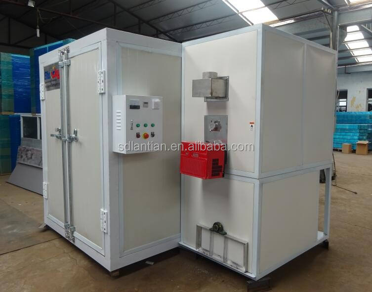Electric portable powder coat drying and curing oven