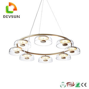 New Style Clear Prism Chandelier LED Metal Glass Pendant Light