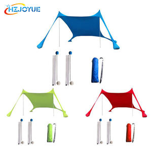 Beach Canopy SunShade Beach Tent With Sandbag Anchors Quality Lycra nylon Fabric - Perfect Sun Shelter