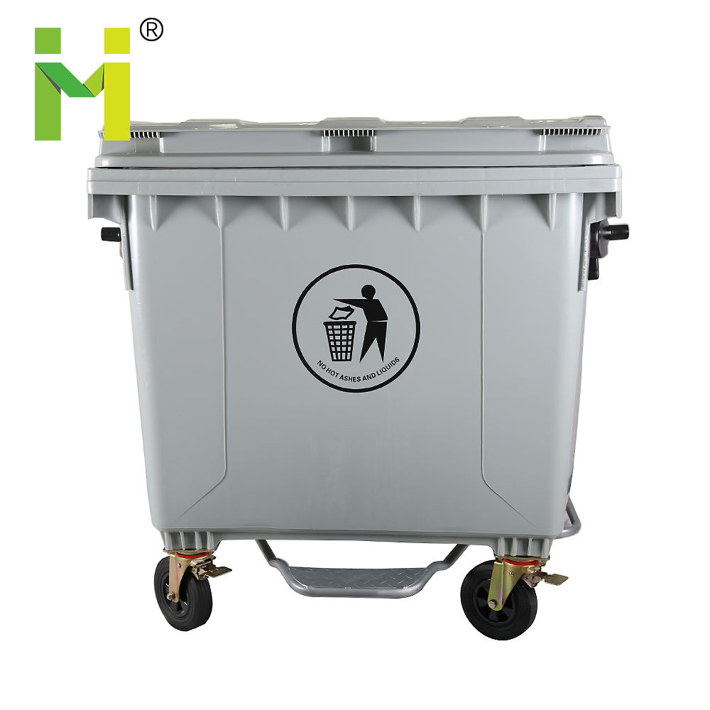 660 l 1100l pedal wheeled pharmaceutical waste container